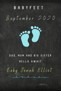 Babyfeet Poster template