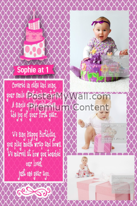 baby s first birthday poster template postermywall