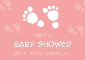 babyshower cards Carte postale template