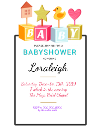 BABYSHOWER Invitation Template Volante (Carta US)