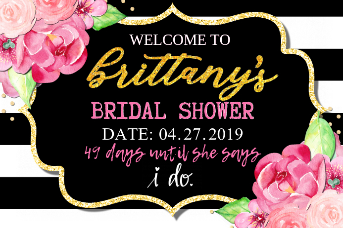 Babyshower Welcome Sign Template Postermywall