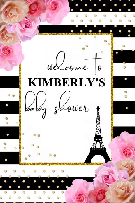 Babyshower Welcome Sign