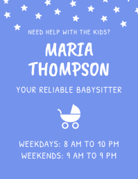 Babysitter Childcare Flyer