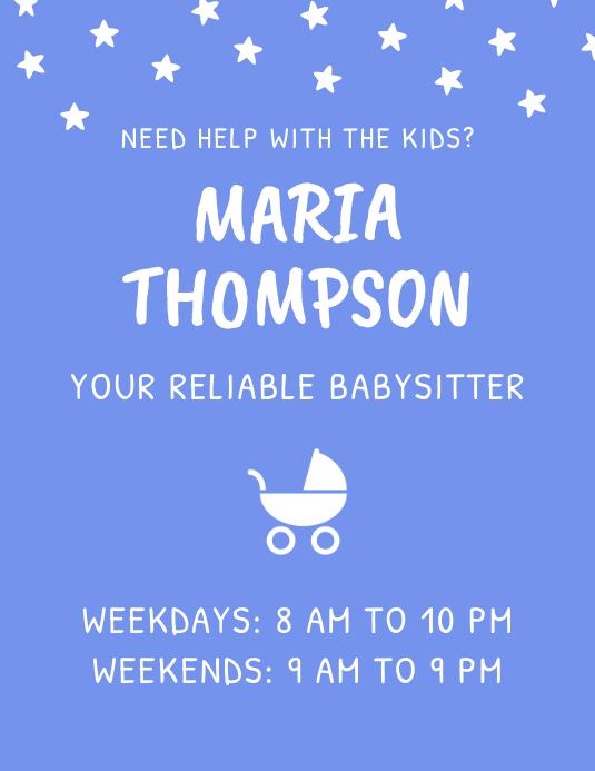 Babysitter Childcare Flyer