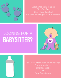 Babysitter Flyer Template