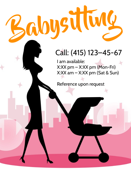 Baby Sitter Flyers Template Postermywall