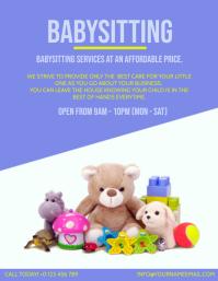 BABYSITTING BABYSITTER AD Template Volante (Carta US)