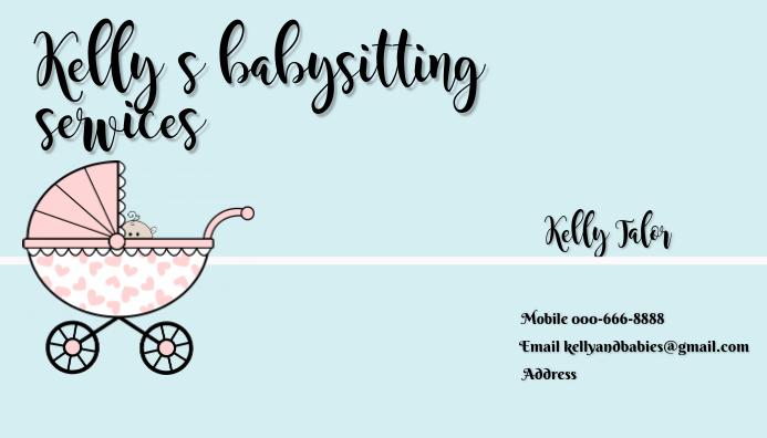 Modèle De Carte De Visite Babysitting Postermywall