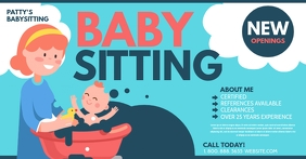 Babysitting Facebook Shared Image template