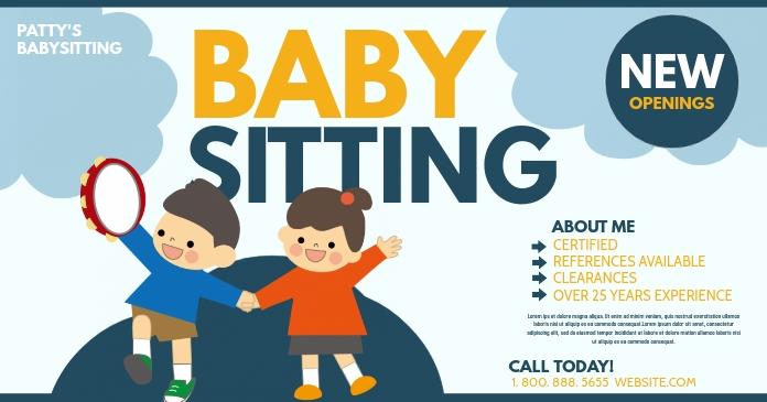 Babysitting Facebook 共享图片 template