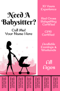 babysitting babysitting flyer template
