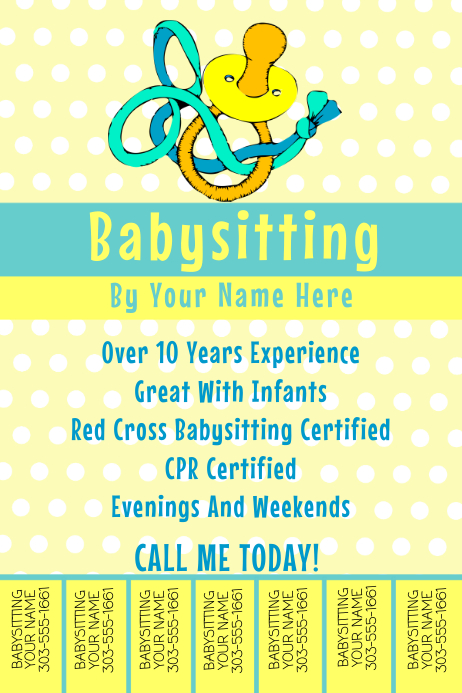 Babysitting Template PosterMyWall