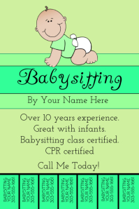 Babysitter Template 100 Customizable Design Templates For Babysitting Postermywall