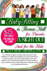babysitting template flyer