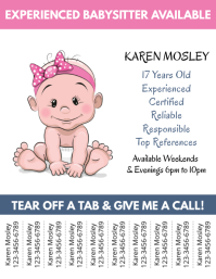 graphic regarding Free Printable Daycare Flyers identified as 1,310+ Little one Treatment Customizable Style and design Templates PosterMyWall
