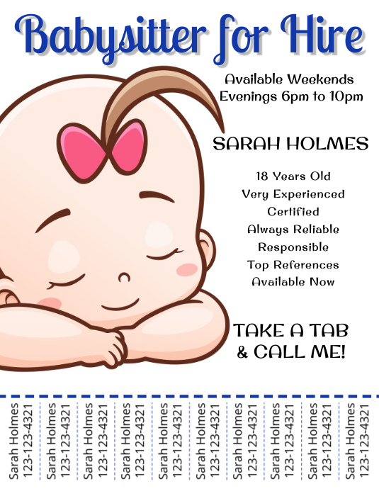 Babysitting Services Flyer Template