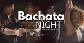 Bachata Night Latin Salsa Kizomba Fiesta ad Facebook Event Cover template