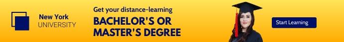 Bachelor degree banner template Leaderboard