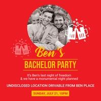 Bachelor party social media post Сообщение Instagram template