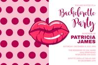 Bachelorette Party Invitation Label template