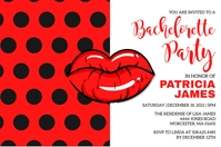 Bachelorette Party Invitation Label template