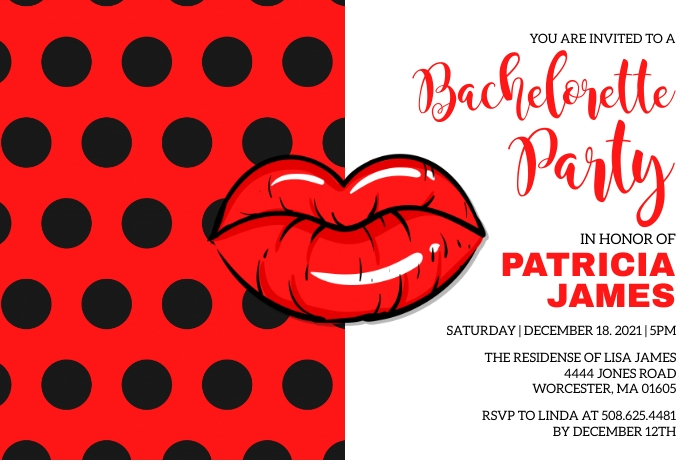 Bachelorette Party Invitation ป้าย template