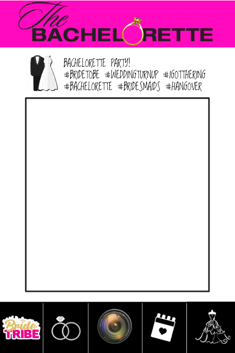 Bachelorette Party Prop Frame Template | PosterMyWall