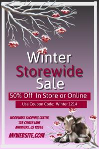 Winter Storewide Retail Sales Event Template