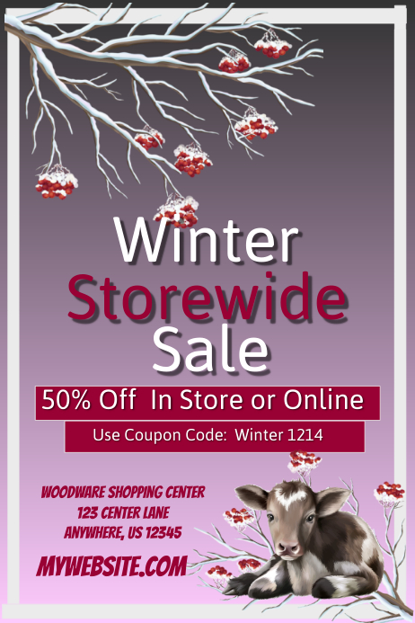 Winter Storewide Retail Sales Event Template