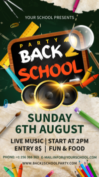 Back 2 school party Instagram story template
