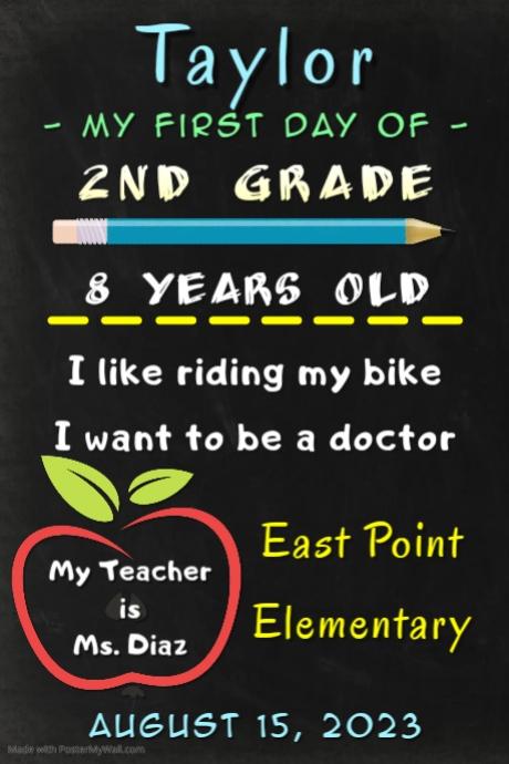 Back-2-School Photo Board Cartaz template