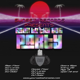 Back 80s Party instagram template video