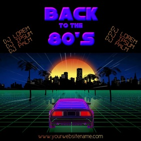 Back 80s Party video template instagram post