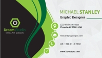 Back Business Card template