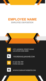 BACK OF BUSINESS CARD Template