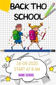 BACK THO SCHOOL Poster template