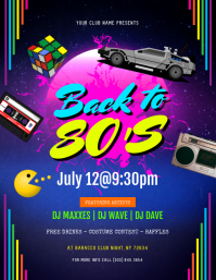 Back To 80's Flyer template