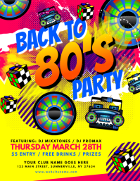 Back To 80s Flyer