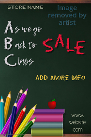 Back to Class Sale Poster