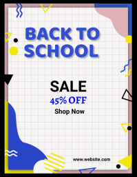 back to school, event ,sale ,Admissions open Flyer (US Letter) template