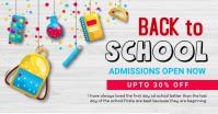 back to school, event ,school Imagem partilhada do Facebook template