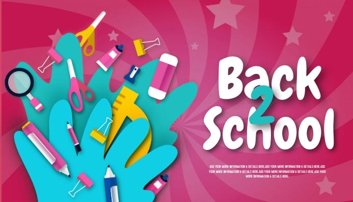 back to school, event ,school Koptekst blog template
