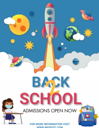 back to school, event ,school Flyer (US Letter) template