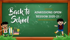 back to school, event ,school Blog Header template