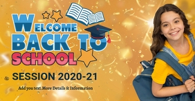back to school, school Facebook Shared Image template