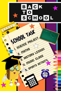 Back to School, Flyer, Poster template