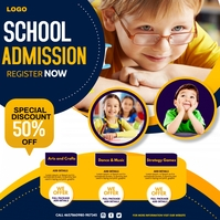 back to school, school admission Vierkant (1:1) template