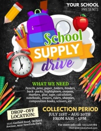 Back to School, School supply drive Flyer (format US Letter) template
