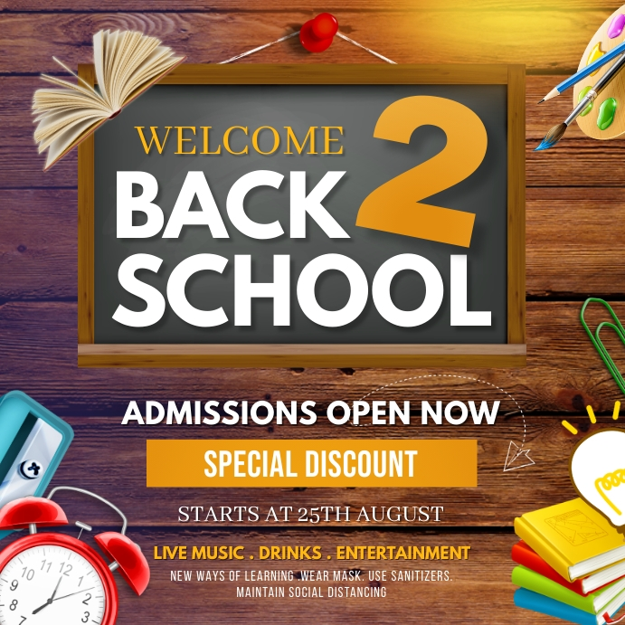 Back to school,School admission Square (1:1) template