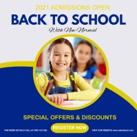 Back to school,school admissions open Vierkant (1:1) template